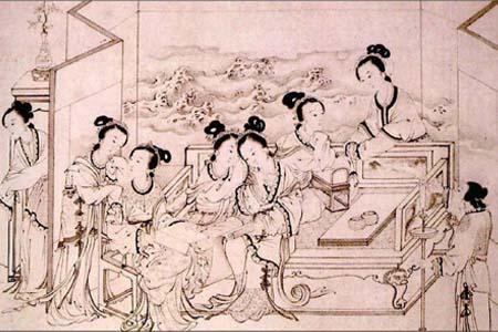 古代七夕节乞巧图片
